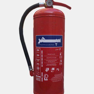 کپسول آتش نشانی پودر و گاز 6 کیلویی سپهر